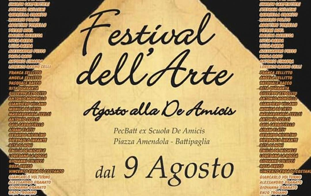 """Agosto Alle De Amicis: In Chiusura Il """"Festival Dell'arte"""""""