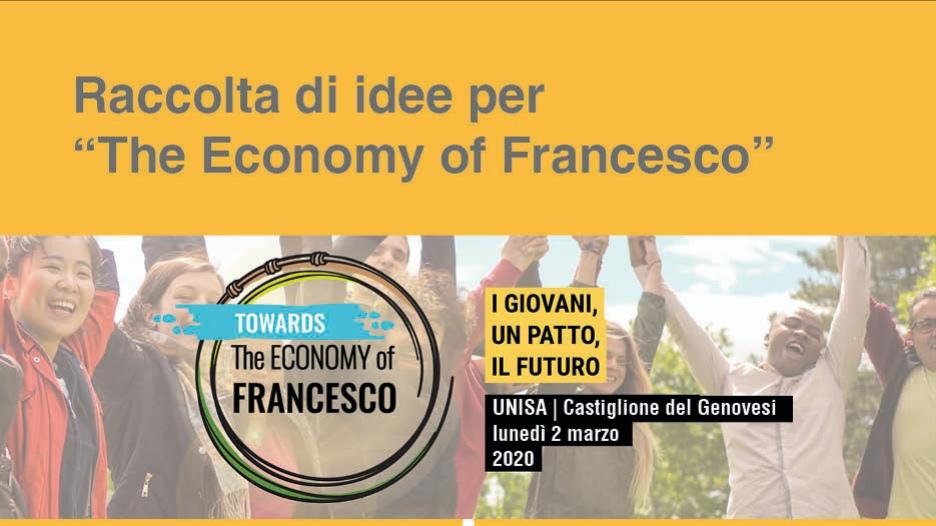 """L'alternativa è L'""""Economy Of Francesco"""":  Un Concorso Di Idee E Una Giornata Di Studi"""